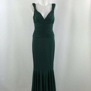Vera Wang Green Ruched Evening Dress Size 40/6